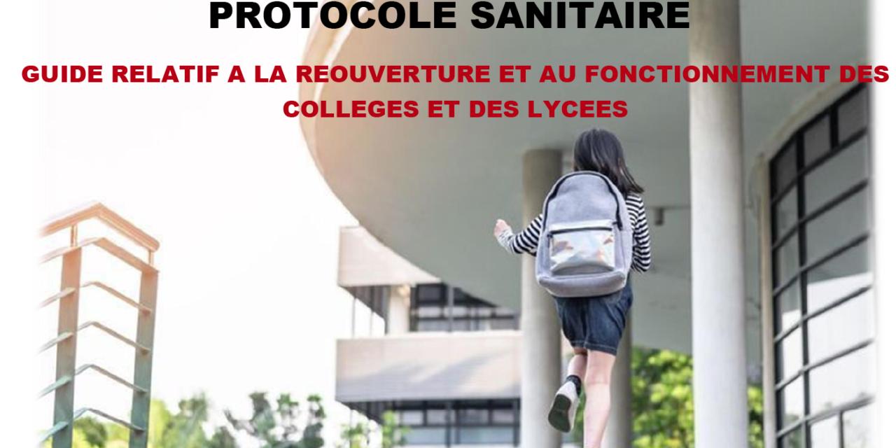 Consultez le protocole sanitaire diffusé à l'échelle nationale