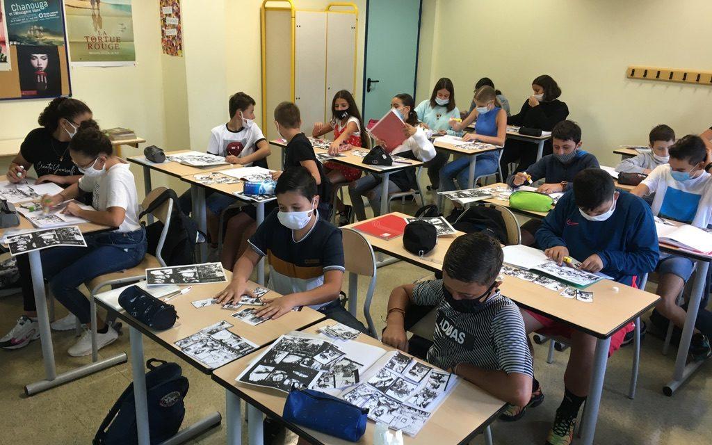 """Les élèves de 5e2 """"planchent"""" sur leur projet annuel de création d'une bande dessinée"""