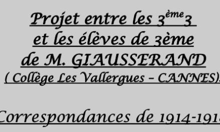 """Projet """"Correspondances 1914-1918"""" : découvrez le travail réalisé par les élèves en liaison sur deux établissements"""